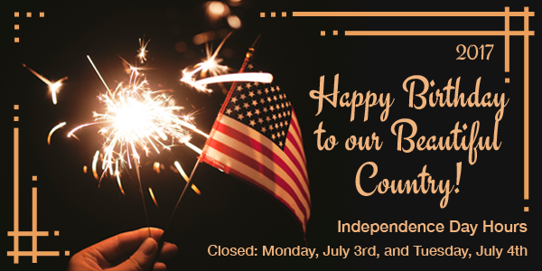 Bailey Wood Products Independence Day Hours - Closed 3rd and 4th of July