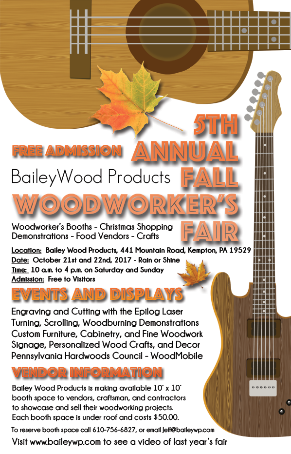 Bailey Wood Products 5th Annual Fall Woodworker's Fair