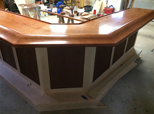 Cherry Bar Top for Bailey Wood Products Customer