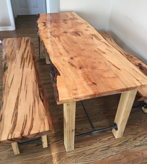 James Rotenberger S Ambrosia Maple Table And Bench Set