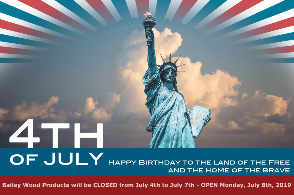 4th of July Hours - Closed July 4th until July 7th, Open on July 8th